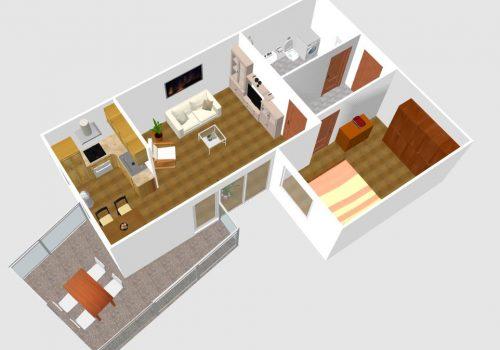 Moderne 2 Zi-Whg in Stadthausvilla
